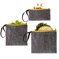 Dishwasher Safe Lunch Bags Food Reusable Sandwich Cotton Snack Bags