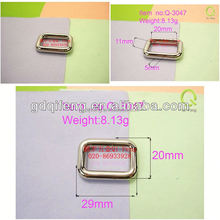 bag ring ,metal bag hardware square ring q-3047