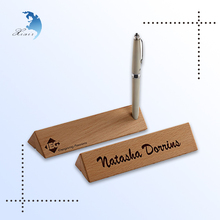 Custom & Unique Shaped Classy Wooden/Wood Pen Holder Desktop Decorative Small Gift Items for Office