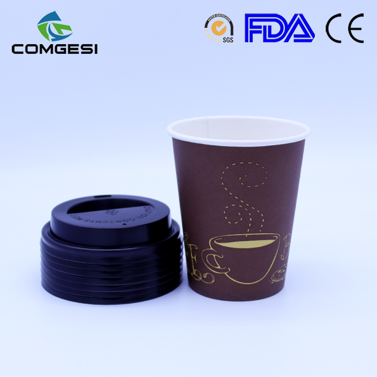 8oz Paper Cup For Tea_Good quality disposable single wall 8oz paper cup for tea or coffee_Free samples paper cup