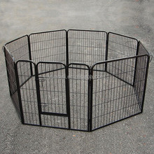 Dog Playpen Metal Portable Pet Steel Fence 8 Panel Puppy Exercise Pen Enclosure Cage Large
