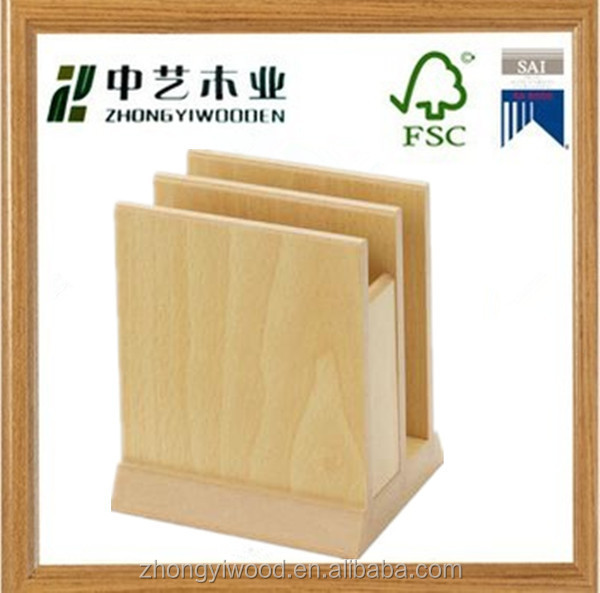 High quality decorative factory price custom hanging wooden restaurants menu holder