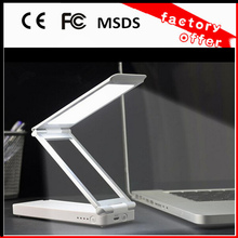 2014 new product from china factory smart led desk lamp foldable creative power bank with table lamp function