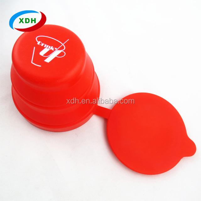 Colorful cheap portable collapsible silicone folding cup