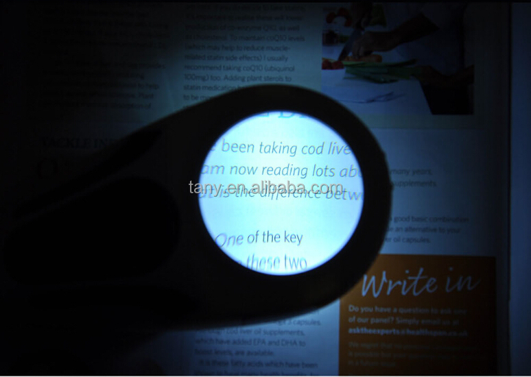 3-in-1 LED Touch Sensor 5X Magnifier