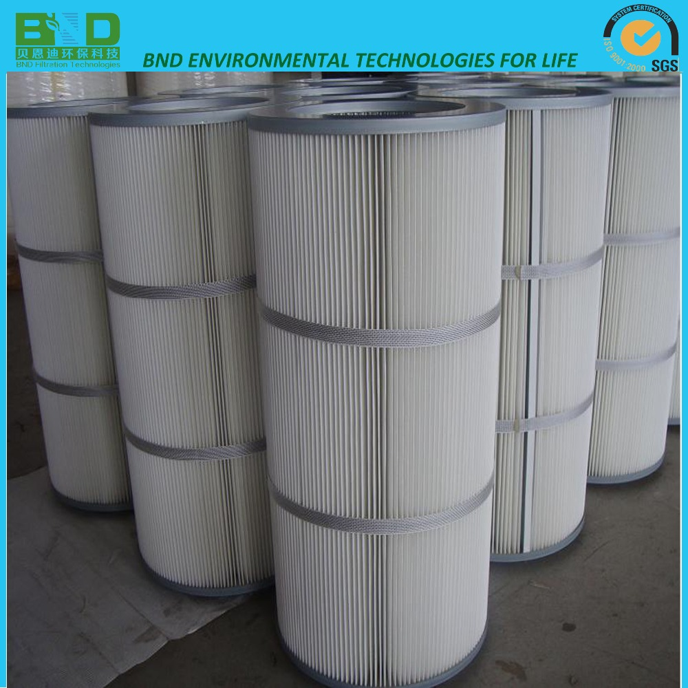 Toray polyester pleated filter cartridge for pulse jet collector