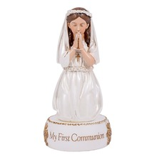 Kneeling Girl My First Communion Resin Figurine