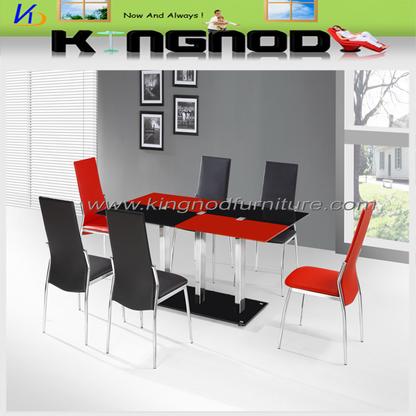 black and red dining table