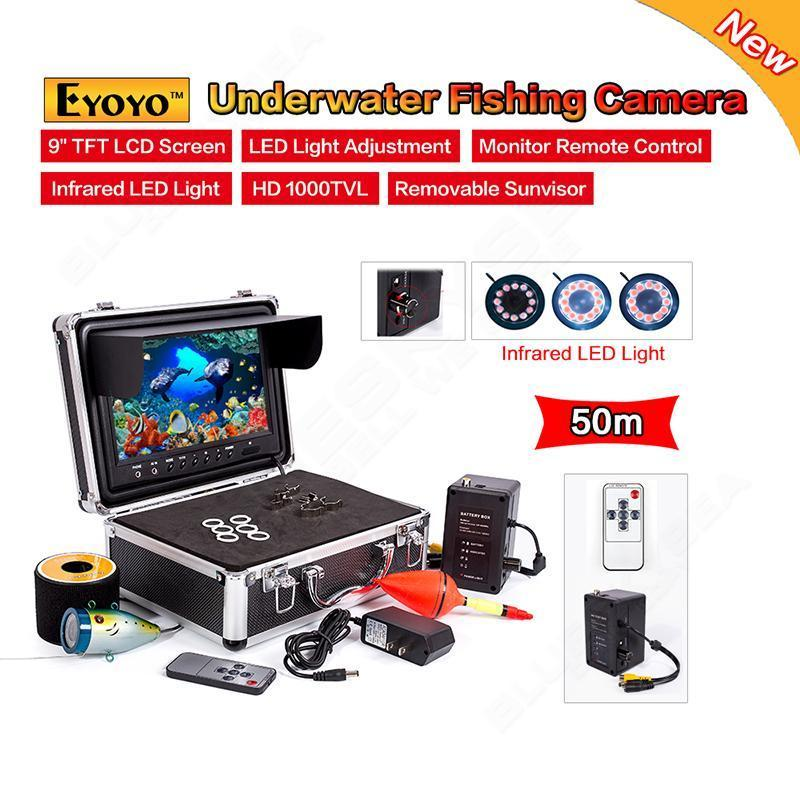 "EYOYO 9"" 50M Underwater Camera Fish Finder 9"" LCD with Remote Control+IR LED <strong>A08</strong> D4"