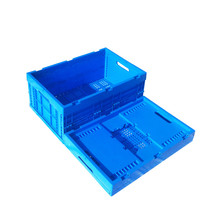 small box plastic folding stackable fruit and vegetable crate industrial stackable storage containers boxes folding