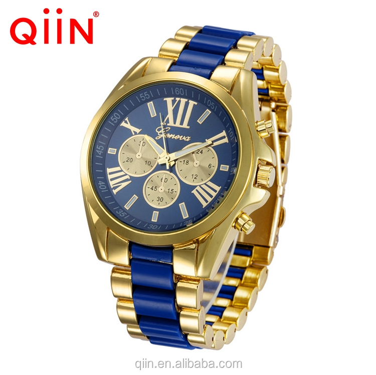 QE0102 Wholesale zinc alloy flashing geneva men wrist watch with cheap price