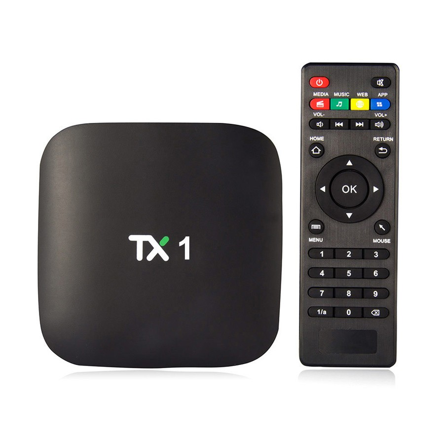 1Chip TX1 smart tv box 1gb 8gb free download android game market