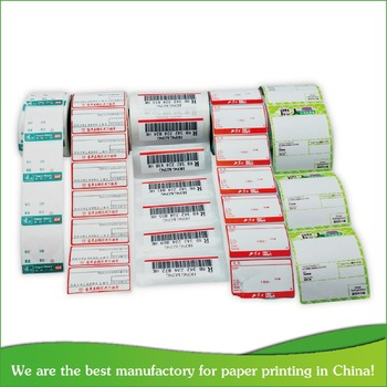 High quality removabel thermal paper adhesive barcode label From China Suppliers