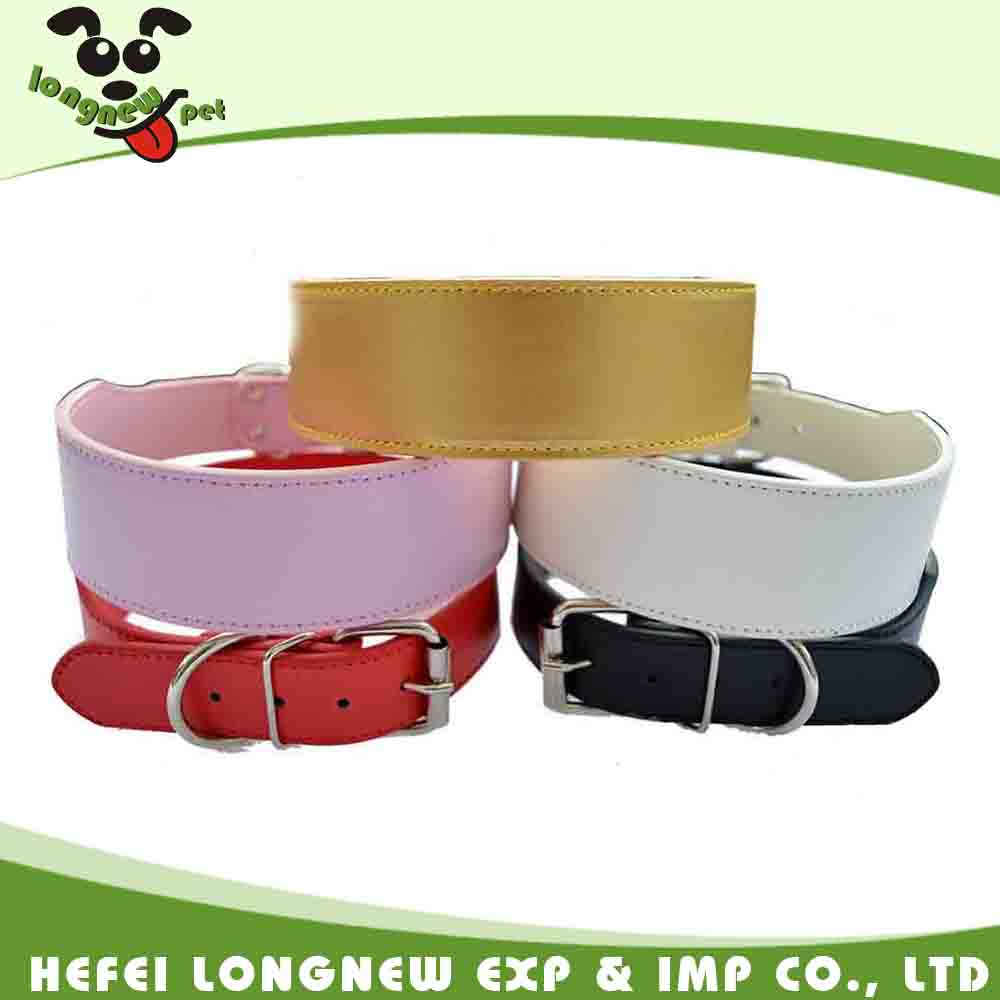 2 Inch Wide PU Leather Large Pet Dog Collar