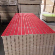 18MM Mdf Grooved /wood Laminated Wall Panel /melamine Slotted Board