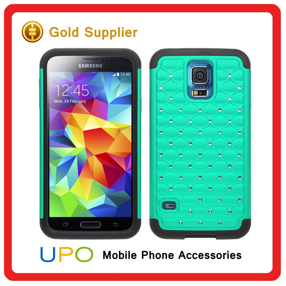 [UPO] High Quality Fashion Spot Diamond 3 in 1 Hybrid Hard Case Cover for Samsung Galaxy S5