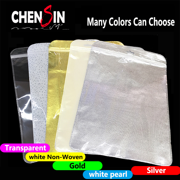 17*24CM ipad mini tablet case packaging bag transparent pp zip lock bag white pearl <strong>plastic</strong>