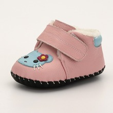 soft leather winter fancy baby girls shoes boots new born baby shoes