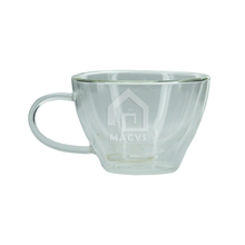 300ml high quality glass tea cup with handle
