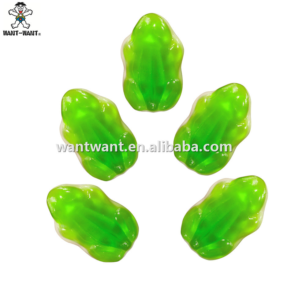 Halloween Candy Frog Shaped Gummy Fruity Candy Jelly Gummy