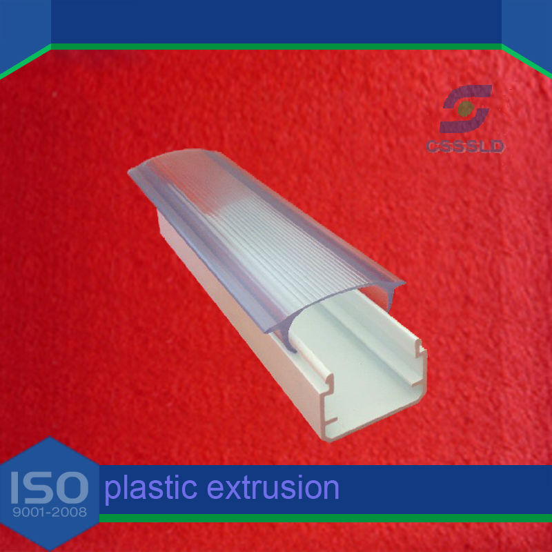 Customized High Quality PC Profile/Polycarbonate Extrusion Products/PC light cover