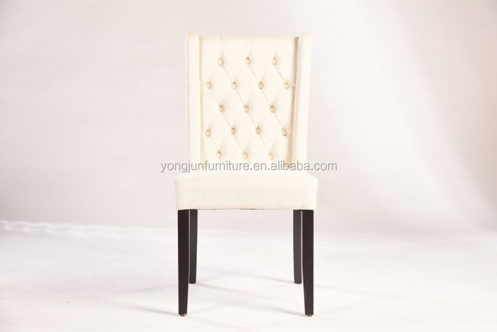 White fabric high back wooden dining chair yj 8029 buy for White high back dining chairs