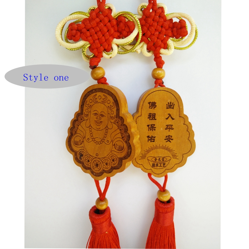 Carved wooden handicraft wooden hanging car