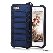 Hybrid armor Phone cover case for iphone 7, 2 in 1 Shockproof mobile phone case For iPhone 7 Plus case