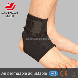 Adjustable ankle stabilizer support sleeve for sports