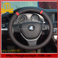 PVC mesh breathable fabric steering wheel cover
