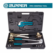 Zupper FT-1240 Manual Axial Sleeve Press Plumbing Fitting Tool Kit Pex Pipe Expander Tool Kit With Pipe Cutter