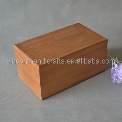 Outlet crafts wooden treasure box classic wooden boxes for keep jewelry and keepsakes on desk or dresser