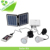 Solar kit with 3.4w solar panel,2pcs 0.9w led bulbs,4 in 1 USB charger,4000mAh 7.4V lithium battery