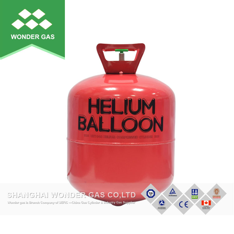 Disposable Steel Helium Cylinder Filling 9 Inch Balloons 30 Units