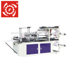 Shunfeng Brand GFQ double 2 layer line heat sealing cold cutting T-shirt flat bag making machine price with automatic punching