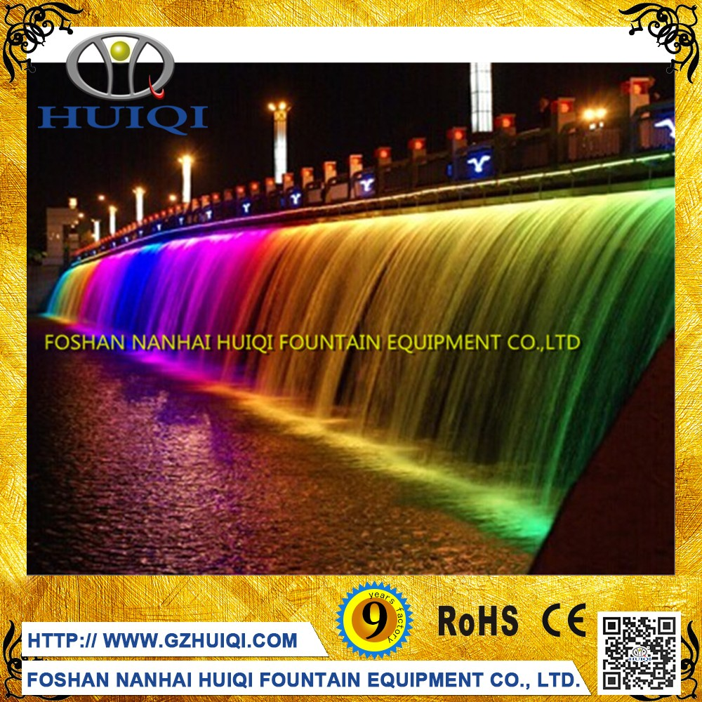 With remote LED light swimming pool decoration indoor outdoor waterfall fountain