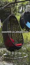PE rattan egg swing chair for outdoor