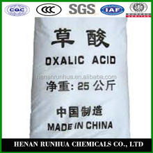China supplier free sample formula of oxalic acid 99.6%