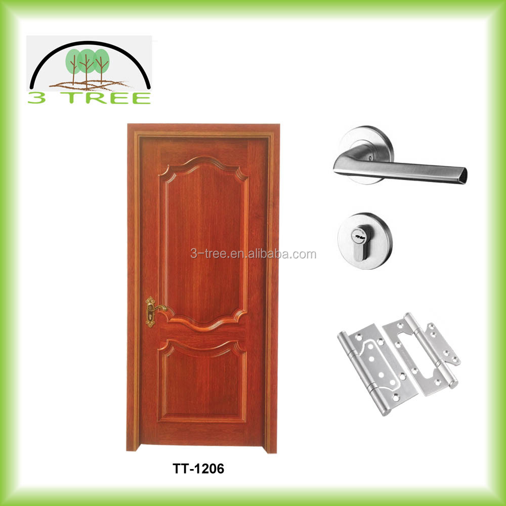 Square top wood craft interior timber door