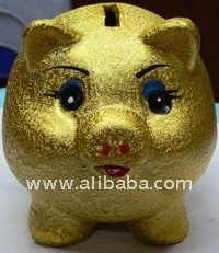 Golden Piggy Saving Bank