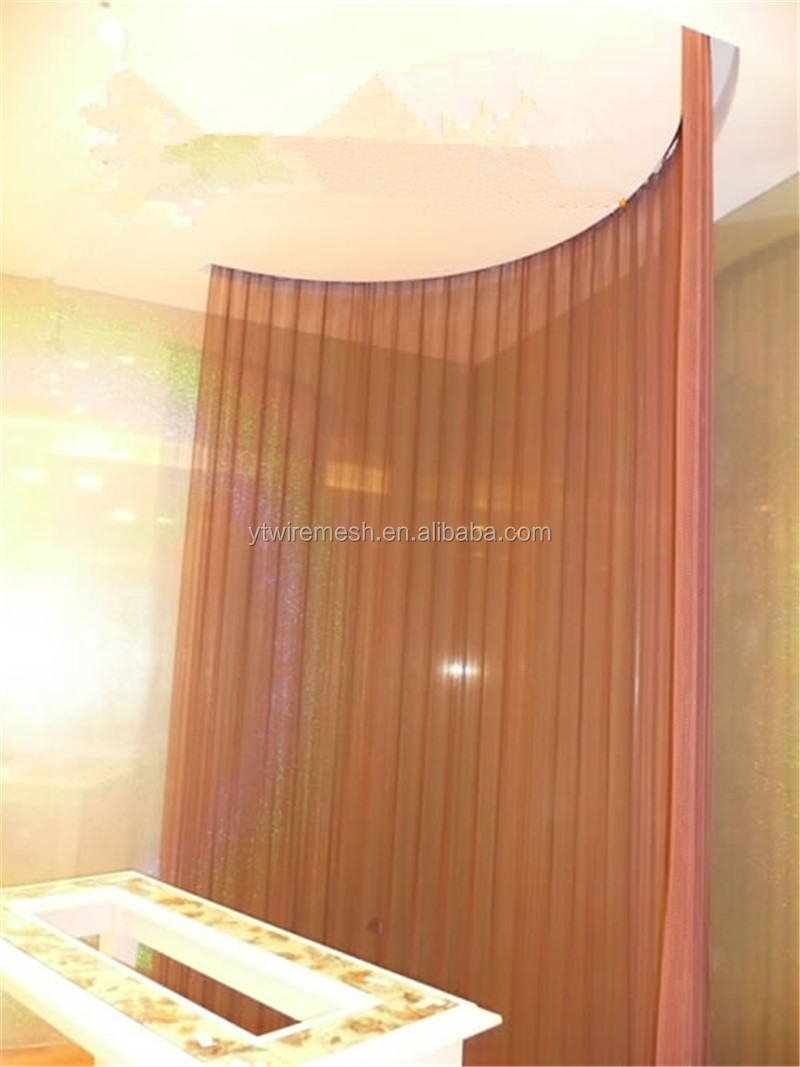 decorative aluminum alloy metal wire mesh shade screen for partition