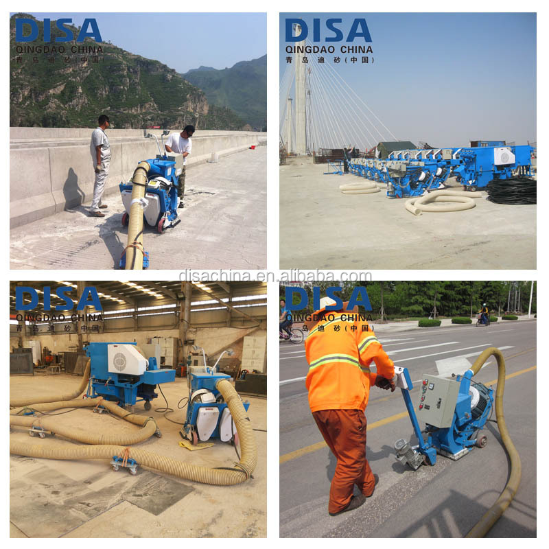 Mobile shot blasting machines for concrete floor