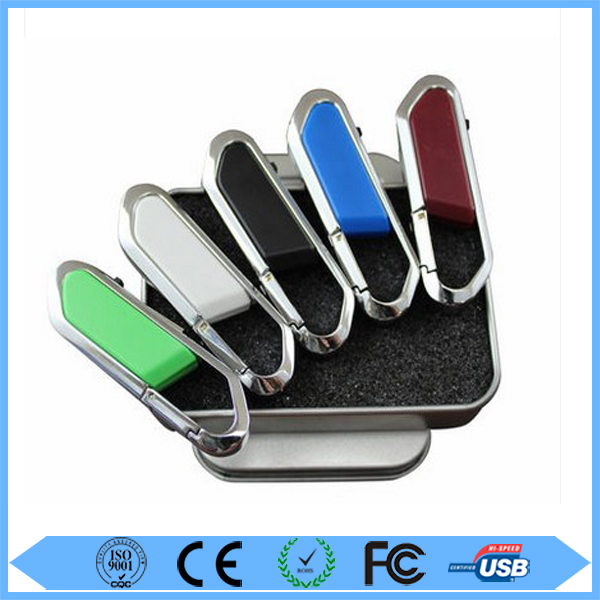 Wholesale climbing button carabiner/hook usb flash drive