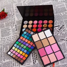 Professional 96 Colors Makeup Palette 24 Lip Gloss 6 Blusher 6 Powder 60 Eyeshadow Brand Cosmetics Set