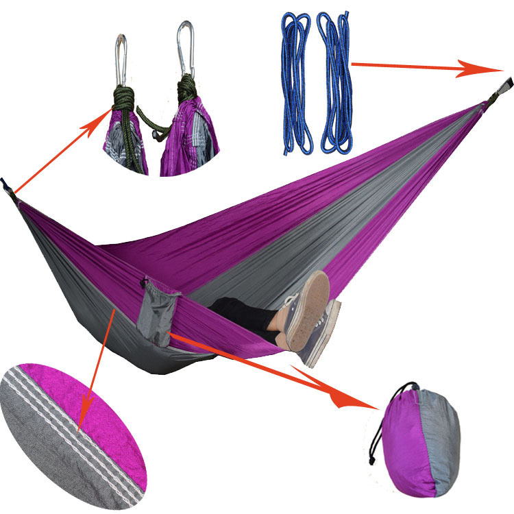 Camping Hammocks Garden Hammock Ultralight Portable Nylon Parachute Multifunctional Lightweight Hammocks