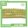 Smooth round semi precious stone beads 10mm lemon jade beads dyed gemstone