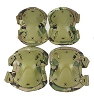 camouflage Multicam Camo Elbow pad/ knee pad Tactical paintball protection knee and elbow pads set