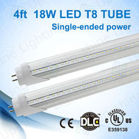 UL &cUL approved 2835SMD led chip ul dlc listed led tube 1200mm with 5 years warranty