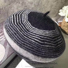 wholesale custom made pattern newsboy women knitted beret hats