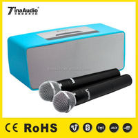 2016 new Wireless Mini portable bluetooth speaker with wireless microphone karaoke player